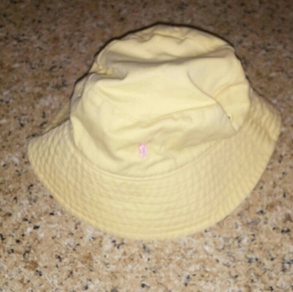 Polo Ralph Lauren Yellow Infant Girl Bucket Hat. M 5ba8222dd6dc52382c4d7303 285990c1f4c